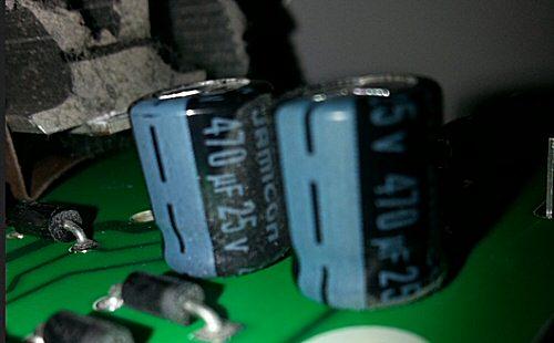Condensateur 470 micro Farad 25 volts