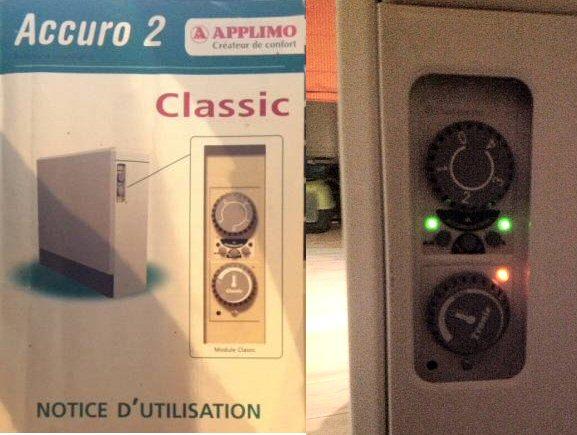 Radiateur électrique à accumulation de chaleur Applimo Accuro