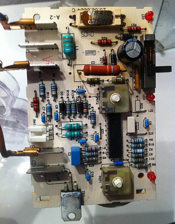 Carte électronique d'un convecteur