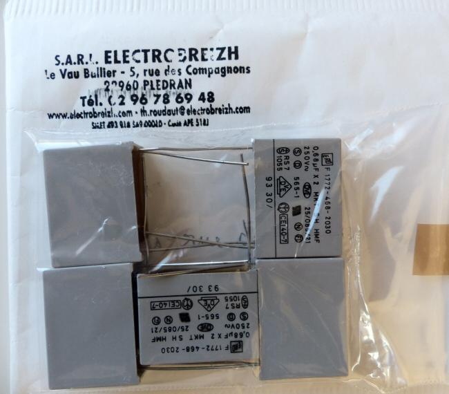Condensateur 0,68 micro farad