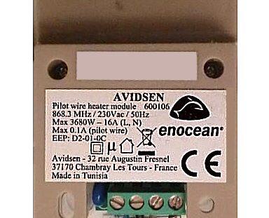 Module fil pilote Avidsen Enocean