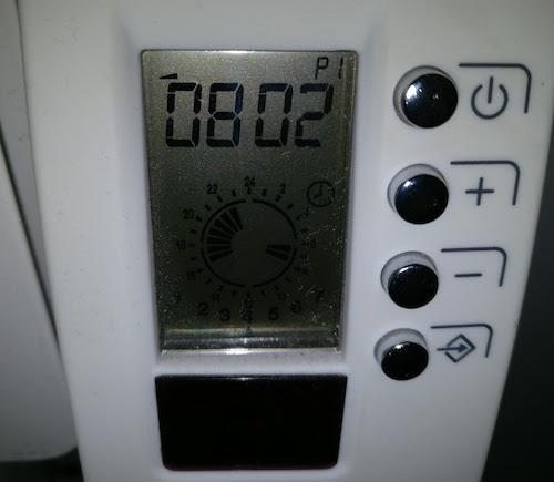 Afficheur du Thermostat Trao