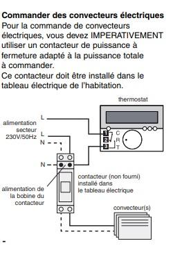 Branchement du thermostat Deltia sur un radiateur électrique