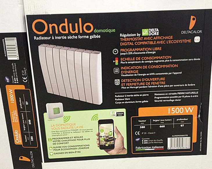 Radiateur à inertie Ondulo