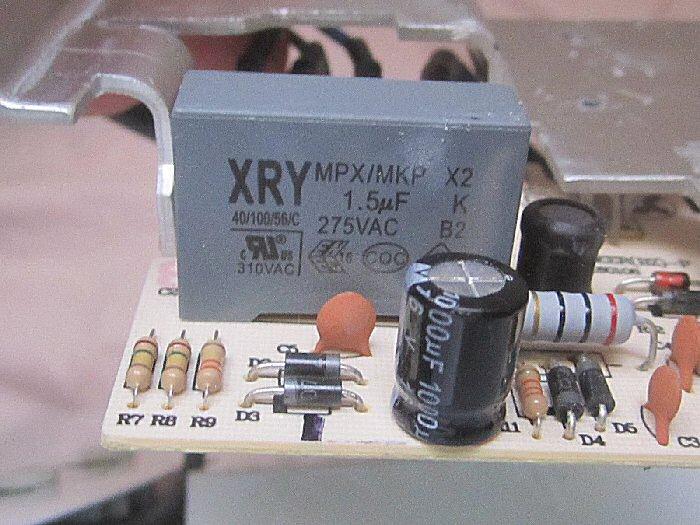 condensateur chuteur MKP X2 1,5 micro Farad