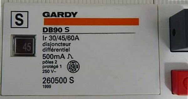 Disjoncteur gardy 500ma