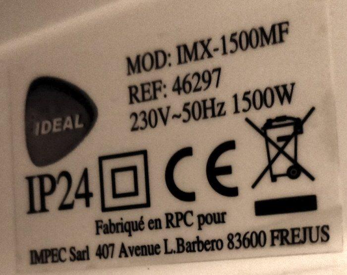 Etiquette produit Ref 46297