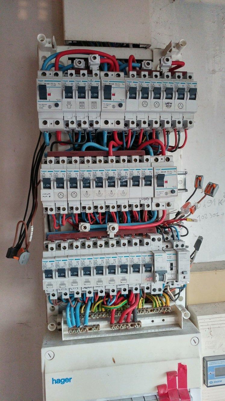 Raccordement au tableau électrique