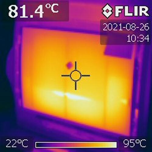Thermographie du film chauffant
