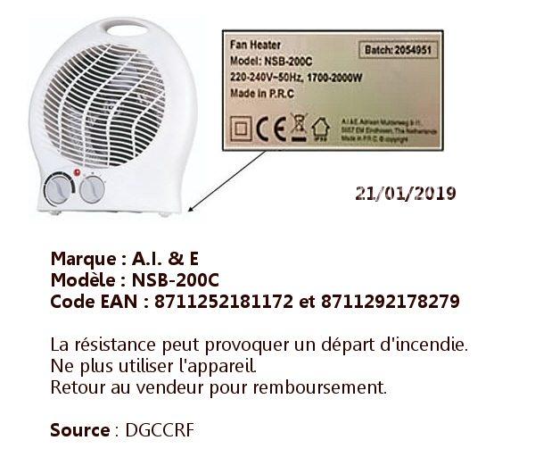 Soufflant de marque A.I.&E modèle NSB-200C
