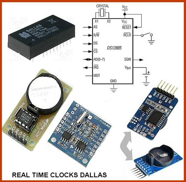 Circuit intégré pour Horloge temps réel / real time clock