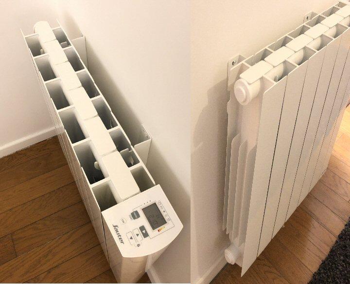 Fixation au mur d'un radiateur