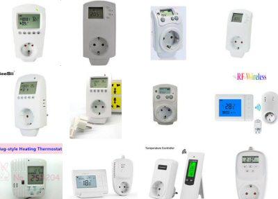 Plusieurs modèles de thermostats prise