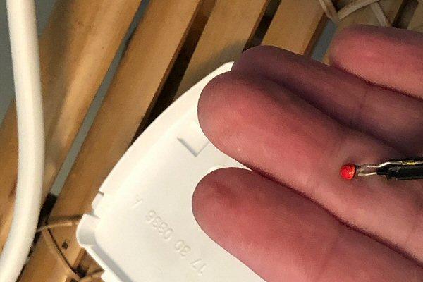 Sonde de température d'un radiateur électrique