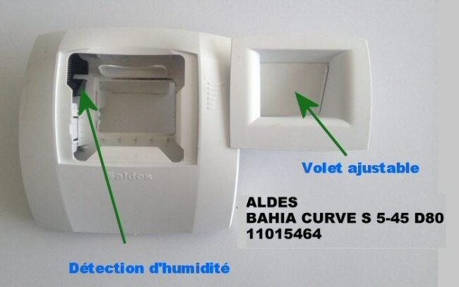bouche vmc hygro Aldès bahia curve s 5-45