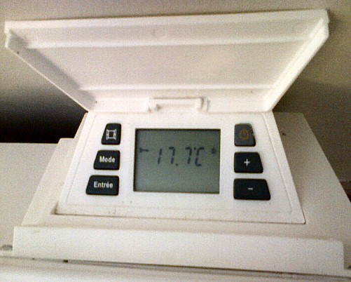 Thermostat d'un convecteur Warm Confort