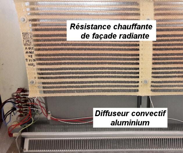 Convecteur aluminium + film rayonnant