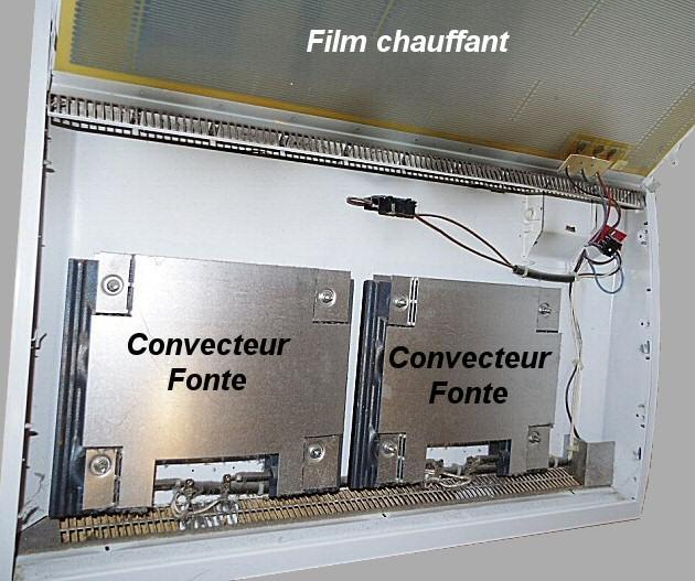 Convecteur fonte + film rayonnant